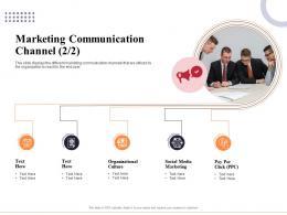 Marketing Communication Channel Organizational Ppt Background