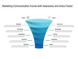 Marketing Communication Funnel With Awareness And Action Factor