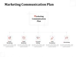 Marketing Communication Plan Direct Marketing Advertising Ppt Powerpoint Presentation Icon Design