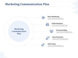 Marketing Communication Plan Direct Marketing Ppt Powerpoint Presentation Show Skills