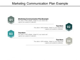 Marketing Communication Plan Example Ppt Powerpoint Presentation Model Guidelines Cpb