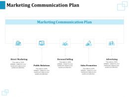 Marketing Communication Plan Personal Selling Ppt Powerpoint Presentation Styles Influencers