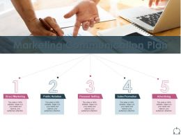 Marketing Communication Plan Personal Selling Ppt Presentation Diagrams
