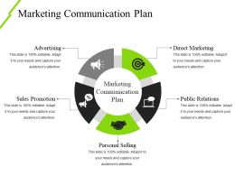 Marketing Communication Plan Ppt Icon