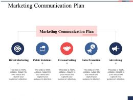 Marketing Communication Plan Ppt Show Background Image