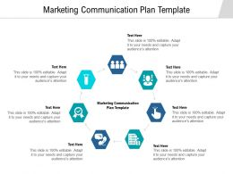 Marketing Communication Plan Template Ppt Powerpoint Presentation Layouts Graphics Cpb