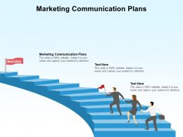 Marketing Communication Plans Ppt Powerpoint Presentation Model Format Ideas Cpb