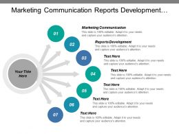 Marketing Communication Reports Development Monitoring Business Operations Deployment Component