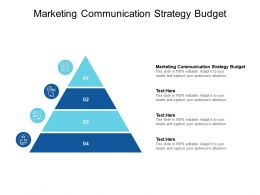 Marketing Communication Strategy Budget Ppt Powerpoint Presentation Gallery Ideas Cpb