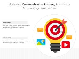 Marketing Communication Strategy Planning To Achieve Organization Goal