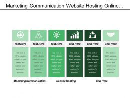 Marketing Communication Website Hosting Online Activities Between Business