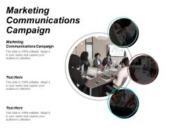 Marketing Communications Campaign Ppt Powerpoint Presentation Gallery Icon Cpb