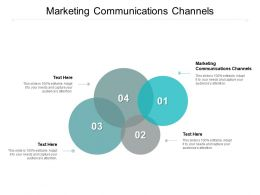 Marketing Communications Channels Ppt Powerpoint Presentation Pictures Shapes Cpb