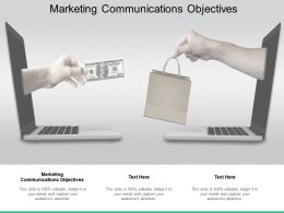 Marketing Communications Objectives Ppt Powerpoint Presentation Outline Show Cpb