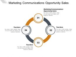 Marketing Communications Opportunity Sales Ppt Powerpoint Presentation Ideas Background Designs Cpb