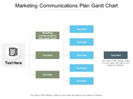 Marketing Communications Plan Gantt Chart Ppt Powerpoint Presentation Deck Cpb