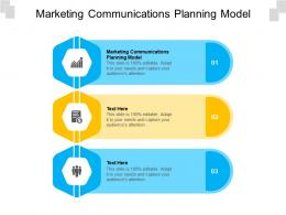 Marketing Communications Planning Model Ppt Powerpoint Presentation Icon Graphics Cpb
