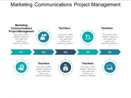 Marketing Communications Project Management Ppt Powerpoint Presentation Slides Graphics Cpb