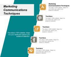 Marketing Communications Techniques Ppt Powerpoint Presentation Portfolio Clipart Cpb
