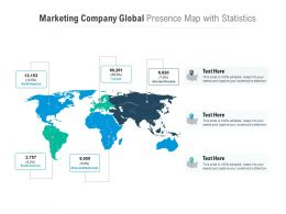 Marketing Company Global Presence Map With Statistics