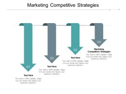 Marketing Competitive Strategies Ppt Powerpoint Presentation Gallery Master Slide Cpb