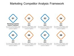 Marketing Competitor Analysis Framework Ppt Powerpoint Pictures Cpb
