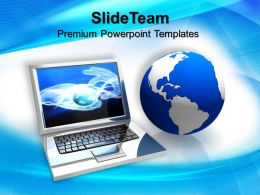 Marketing Concepts Powerpoint Templates Laptop Computer Process Ppt Backgrounds