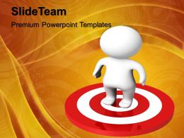 Marketing Concepts Powerpoint Templates Man Target Business Ppt