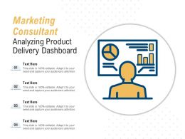 Marketing Consultant Analyzing Product Delivery Dashboard