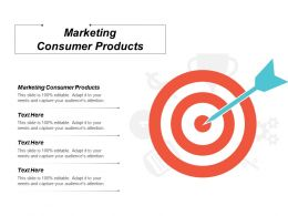 Marketing Consumer Products Ppt Powerpoint Presentation Styles Example Cpb
