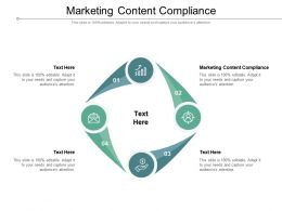 Marketing Content Compliance Ppt Powerpoint Presentation Model Shapes Cpb