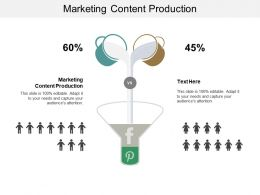 Marketing Content Production Ppt Powerpoint Presentation File Professional Cpb
