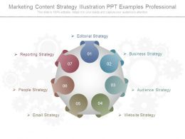 Marketing Content Strategy Illustration Ppt Examples Professional