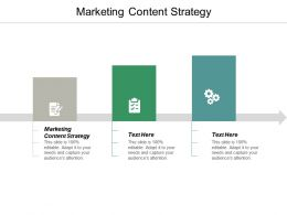 Marketing Content Strategy Ppt Powerpoint Presentation Portfolio Aids Cpb