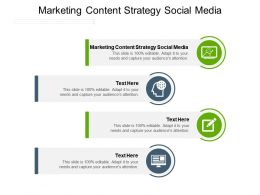 Marketing Content Strategy Social Media Ppt Presentation Styles Objects Cpb