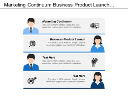 Marketing Continuum Business Product Launch Video Marketing Materials