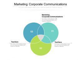 Marketing Corporate Communications Ppt Powerpoint Presentation Infographics Templates Cpb