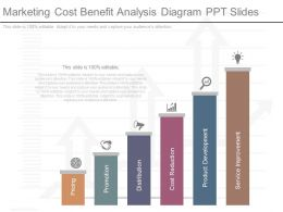 Marketing Cost Benefit Analysis Diagram Ppt Slides