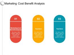 Marketing Cost Benefit Analysis Ppt Powerpoint Presentation Ideas Tips Cpb