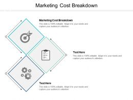 Marketing Cost Breakdown Ppt Powerpoint Presentation Summary Slideshow Cpb
