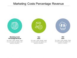 Marketing Costs Percentage Revenue Ppt Powerpoint Presentation Model Gridlines Cpb