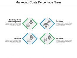 Marketing Costs Percentage Sales Ppt Powerpoint Presentation Icon Design Inspiration Cpb