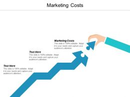 Marketing Costs Ppt Powerpoint Presentation Icon Display Cpb