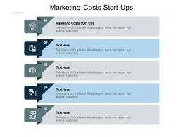 Marketing Costs Start Ups Ppt Powerpoint Presentation File Diagrams Cpb