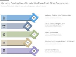 Marketing Creating Sales Opportunities Powerpoint Slides Backgrounds