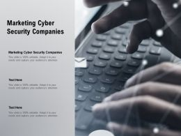 Marketing Cyber Security Companies Ppt Powerpoint Presentation Layouts Background Cpb
