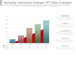 Marketing Dashboard Example Ppt Slide Examples