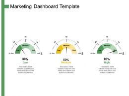 Marketing Dashboard Template Ppt Powerpoint Presentation Summary Design Templates