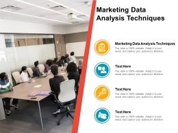 Marketing Data Analysis Techniques Ppt Powerpoint Presentation Example Cpb