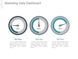 Marketing Data Dashboard Ppt Background Graphics